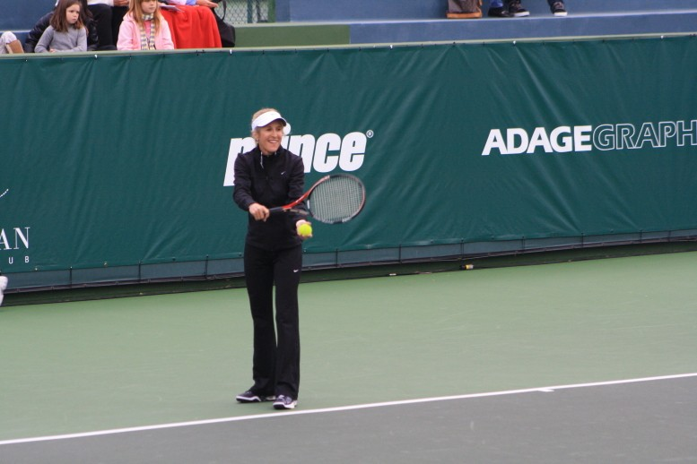 Tracy Austin enjoying the Inaugural Charity Challenge at the Manhattan Country Club